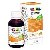 PEDIAKID - Complément Alimentaire Naturel Pediakid 22 Vitamines et Oligo-Éléments - Formule Exclusive au Sirop d'Agave - Optimise les Apports en Vitamines et Minéraux - Goût Abricot - Flacon de 125 ml