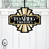 Big Dot of Happiness Roaring 20's – Hängende Veranda 1920er Jahre Art Deco Jazz Party Outdoor Dekorationen – Haustür Dekor – 1 Stück Schild
