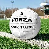 FORZA Gaelic Training Football | Hi-Tech Airlock Bladder | 100% Hand Stitched GAA Ball (Size 4, Pack of 13)