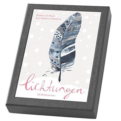 Lichtungen - Kartenset: 10 Weihnachts-Faltkarten im Schmuckkarton (Mit Herz und Hand gemacht)