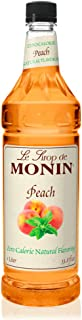 Monin - Zero Calorie Natural Peach Syrup, Fresh and Juicy Flavors, Great for Iced Teas, Lemonades, and Sodas, Vegan, Non-G...