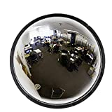 """36"""" Acrylic Bubble Dome Mirror, Round Indoor Security Mirror for Driveway Safety Spots, Outdoor Warehouse Side View, Circular Wall Mirror for Office Use - Vision Metalizers (DPB3600)"""