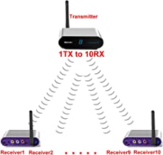 measy av550 500m 5.8G Wireless AV Swtich RCA Audio Video Transmitter Receiver Sender IR Extended For DVD Satellite IPTV Android Cable TV 1TX to 7RX