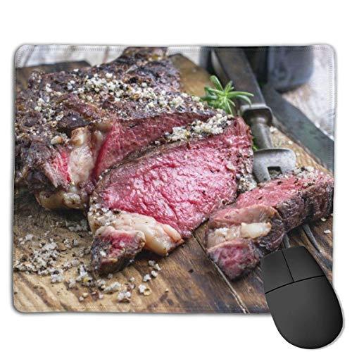 Buffalo Brown American Barbecue Envejecido Wagyu Tomahawk Steak Board Comida Bebida Carne de res Red Angus Australian Bbq Alfombrilla de ratón Alfombrilla de ratón linda Base de goma Alfombrilla de ra