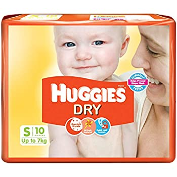 Huggies New Dry, Taped Diapers, Small Size, 10 Count
