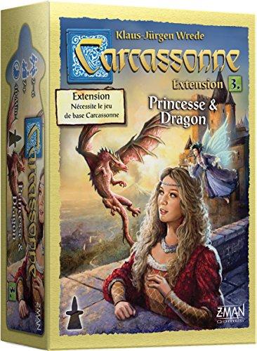 Carcassonne – Extensión: Princesa y dragón – Asmodee – Juego de Mesa – Juego de Tejas