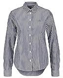 GANT REG Broadcloth Striped Shirt Blusas, Azul clásico, 40 para Mujer