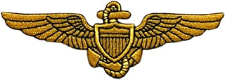 "Naval Aviator Pilot Wings Patch [""Velcro Brand"" Fastener - 4.0 X 1.5 -PW5]"
