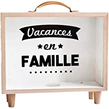 Sweet FanMuLin Wooden Bank Family Holidays 8.15X6.22X2.83 inches