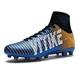 WETIKE Kids Soccer Cleats for Boys Youth Cleats Football Boots with High Ankle Sock Cleats for...