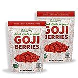 Wholeberry organic wolfberry gouqi Goji berries 32oz| Raw, Vegan, Gluten Free Super food High in Plant Based Protein, Dietary Fiber, Vitamin A & Iron | Large…