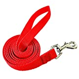 Dog Lead Leash 1.5m/5ft Puppy Lead, Walking Dog Lead Leash for Small/Medium/Large Dogs, Short Strong Dog Line for Dog and Puppy Daily Walking (Red)