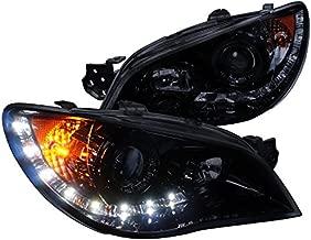 Spec-D Tuning 2LHP-WRX06G-TM Subaru Impreza Wrx Sti Tr Wagon 4Dr Led Projector Headlights Smoked