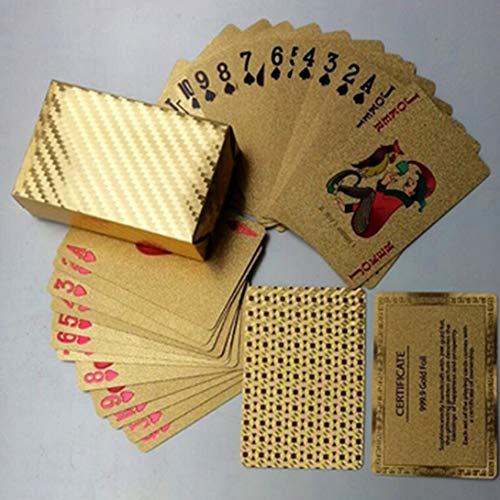 Swiftswan Juegos de mesa de juego del regalo del mejor regalo de los naipes del póker de la hoja del oro del uso del oro de los
