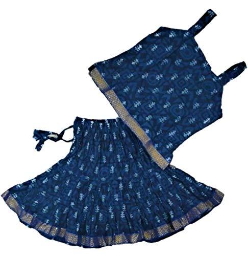 ANNA FASHION 100% Cotton Readymade Printed Lehenga Choli Set For Kids Girls Pure Cotton
