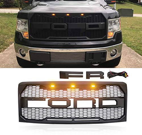 grille ford f150 grill raptor 150 2009 replacement bmw matte fx4 abs kidney parts lights charcoal f35 f30 series led