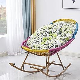 Bueuwe Chaise à Bascule inclinable en rotin avec Coussin Mou Fauteuil inclinable de Chaise de Jardin Chaise de Loisirs…