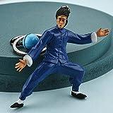 YXYSHX Büste Skulpturen Kung Fu Superstar Bruce Lee Schlüsselanhänger Handtasche Rucksack Ornamente Anhänger Schlüsselringe -D