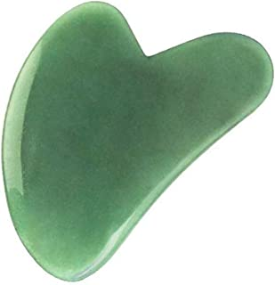 Gua Sha Scraping Tool, YanYoung Natural Green Jade Stone Gua Sha Facial Tools, Skin Care Gua Sha Facial Spa, Guasha Heart ...