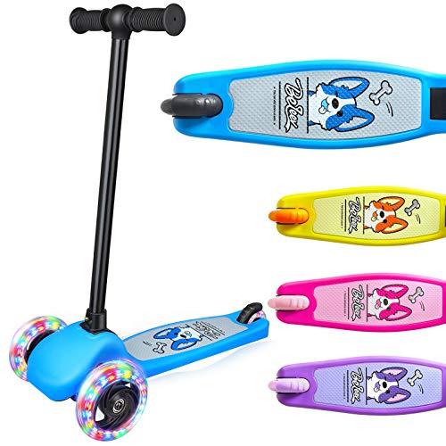 BELEEV Roller Kinder 3 Rädern Scooter Kinderroller von 3 bis 5 Jahren Kinderscooter Dreiradscooter mit LED...