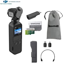DJI Osmo Pocket Gimbal 3-Axis Stabilized Handheld Camera with 128GB MicroSDXC Card Supports 4K Video