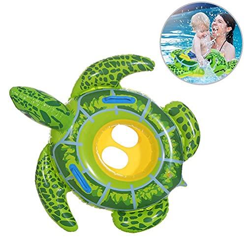 WINBST Flotador hinchable de tortuga para bebé, playa, piscina, portátil, forma de tortuga, flotante, asiento para barco, piscina, juguete para niños