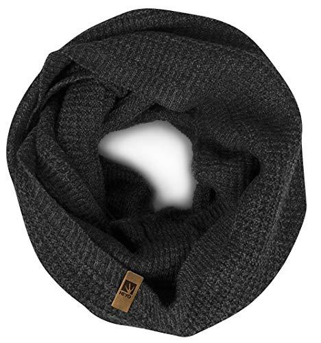 HEYO Rundschal H16025 | Winter Loop Schal für Herren | weiches gestricktes Schlauchschal | warmes Strickschal (Grau)