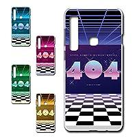 Galaxy A9 (2018) 専用 スマホケース ハードケース カバー 80's ヴェイパーウェイヴ 404 【デザインA】 TK-638A ギャラクシー エー ナイン