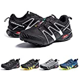 Zapatillas De Trail Running Impermeables para Hombre Mujer Zapatillas Trekking Zapatos Senderismo Deporte Negro Blanco Talla42