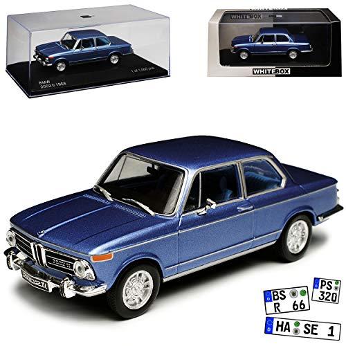 WHlTEBOX B-M-W 2002 ti Blau 1966-1977 limitiert 1 von 1000 Stück 1/43 Whitebox Modell Auto