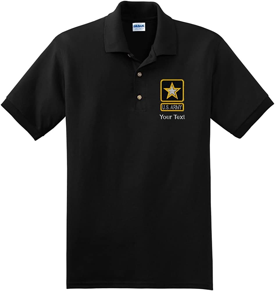 Personalized Custom Embroidered U.S. Army Star Design on Polo Shirt