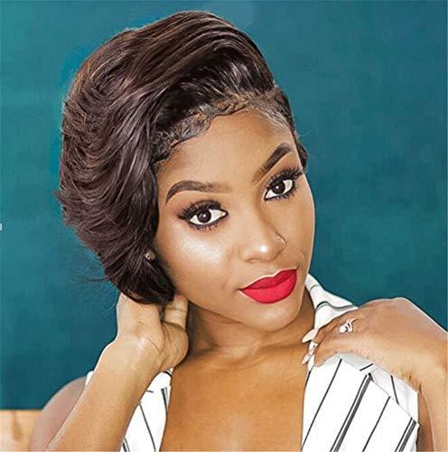 ANIWIGS Court Perruques pour Noir Femmes Synthétique Court Bouclé Cheveux Chaleur Résistant Fibre Africain Américain Cheveux avec Perruque Casquette 10\