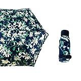 JUNDY Regenschirm Taschenschirm Winddicht Kompakt Leicht Stabiler Schirm Transportabel Sonnenschutz Taschenschirm 50% Sonnenschirm Farbe14 90cm