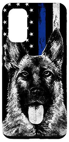 Galaxy S20 Thin Blue Line US Flag K-9 German Shepherd Police Dog Phone Case