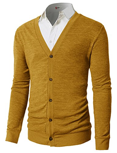 Yellow Cardigan Sweaters for Mens