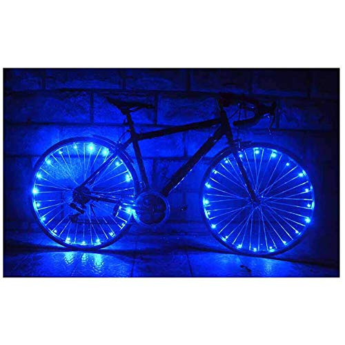 Boolavard Waterproof Cycling Wheel Light 20 LED Bike 2.2m String Wire Spoke Bicycle Tire Lamp Night Warning Safety Flash Light for Bicycle