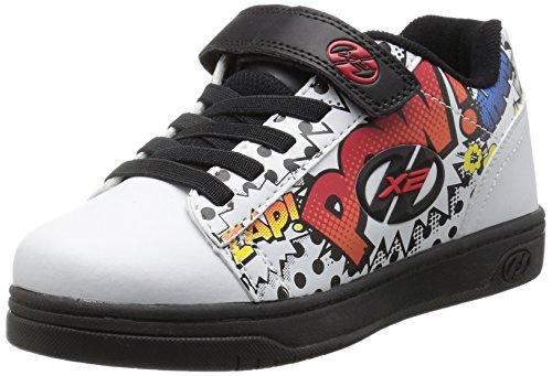 HEELYS Heelys Unisex Kinder X2 Dual Up Turnschuhe, Elfenbein (White/Black/Multi Comic), 30 EU