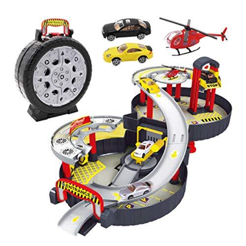Mopoq Modell Spielzeug Dauerhafte und umweltfreundliche Game Set Tragbares Indoor Spiel Eltern-Kind-Interactive Spielzeuge, Spielhaus Spielzeug auf die Baustelle der Zwei-Geschichte Dreidimensionales