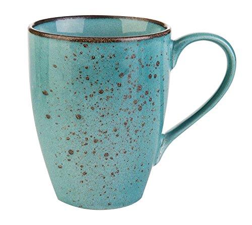 Kaffeetasse Kaffeebecher Teetasse | Steinzeug | Blau | 300 ml