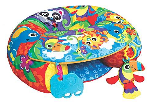 Playgro Coussin d'Activités pour Jouer Assis, Gonflable, À partir de 6 mois, Sit Up and Play Activity Nest, Multicolore, 40192
