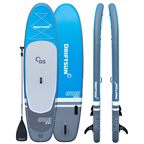 Driftsun Explorer Paddleboard 10Ft SUP, with Travel Backpack, Paddle, Leash. 32 Inch Wide