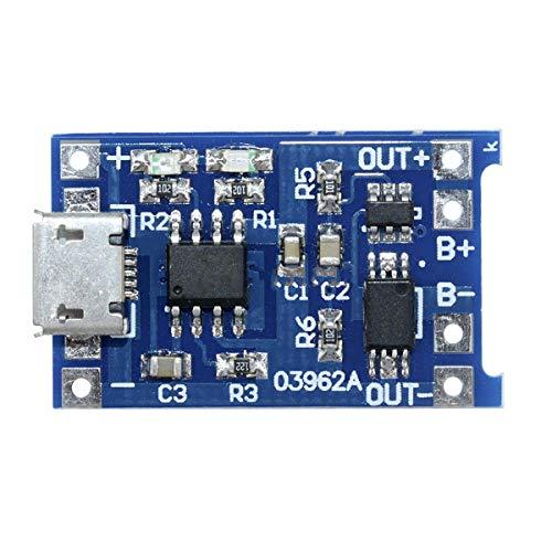 HaiQianXin 18650 Micro 4,2 V/1 A overbelastingsmodule, beschermplaat, lithium accu, oplader, 1 stuk