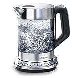 Arendo - Hervidor de Agua de vidrio con control de temperatura - Función de...