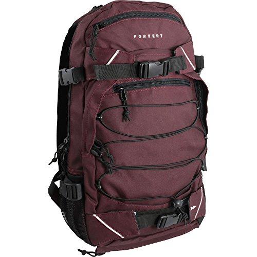 FORVERT Unisex Bag Louis sportlich-lässiger Daypack mit durchdachter Ausstattung und Boardcatcher, Violett (Plum)