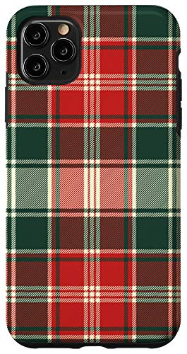 iPhone 11 Pro Max Christmas Plaid Case Winter Holidays Wrapping Pattern Case