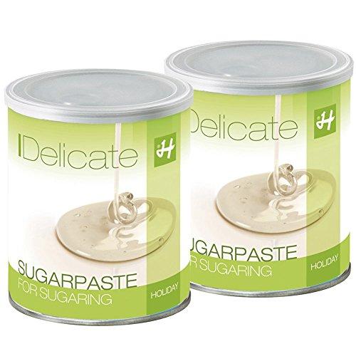 Zuckerpasten Delicate Soft Soft 2 x 1 kg Sugaring die effektive langfristige Haarentfernung ohne Vliesstreifen mit der Flicking Technik
