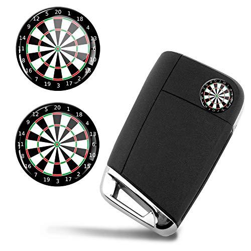 SkinoEu® 2 x Ø14mm Dart Darts Dartscheibe Schlüssel Emblem Aufkleber Stickers Für Fernbedienung Auto Moto Logo Key Badge Tuning KS 147