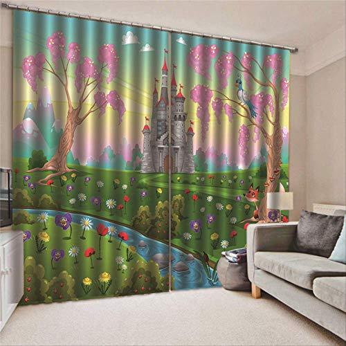 cortinas salon estampadas modernas