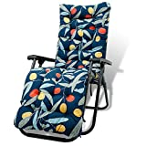 Sun Lounger Cushions Replacement Sunbed Cushions Thick Pad Large Padded Garden Furniture Portable Cushion Covers Lounge Chair Pads for Holiday Relaxer Patio Garden Outdoor (Style 4)