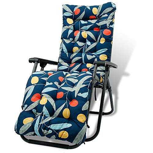 Auflagen für Gartenliegen 170x53x8cm, Sonnenliege Kissen Elegant , Bankkissen Anti-Rutsch-Design, Dick Sitzkissen Sitzpolster Sitzauflage für Terrasse, Reisen, Relax Liegestuhl (D)